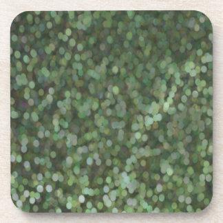 Reflejo pintado verde del brillo posavasos de bebida