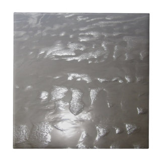 Reflejo plateado de la arena azulejo cerámica