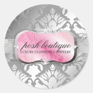 reflejo rosado del disco 311-Lavish y del damasco Pegatinas Redondas