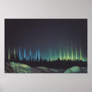 reflejos de luz en Alaska Póster