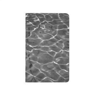 Reflejos de luz en el agua: Negro y blanco Cuadernos