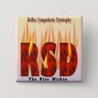 Reflex Sympathetic Dystrophy Awareness Button (Squ
