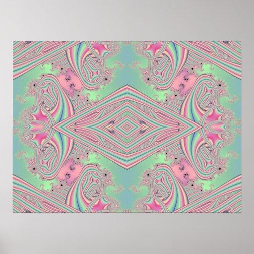 Reflexión 008 del fractal posters