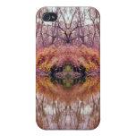 Reflexión abstracta de la cala del bosque iPhone 4/4S fundas