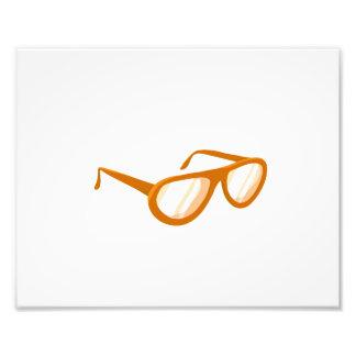 reflexión anaranjada de las gafas de sol arte con fotos