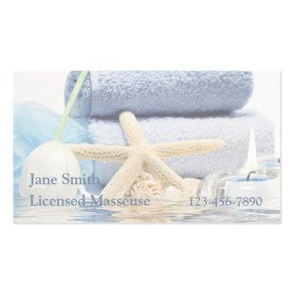 Reflexión azul del balneario tarjeta personal