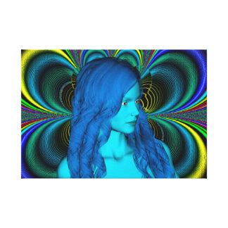 Reflexión azul impresión en lona