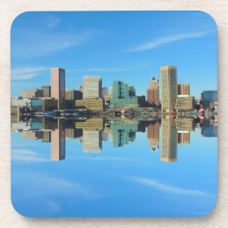 Reflexión céntrica del horizonte de Baltimore Posavasos De Bebida
