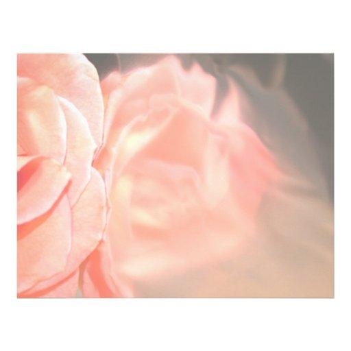 Reflexión color de rosa rosa clara en plata membretes personalizados