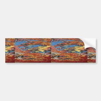 Reflexión colorida del agua pegatina de parachoque