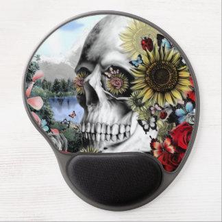 Reflexión, cráneo del paisaje en paleta de colores alfombrillas con gel
