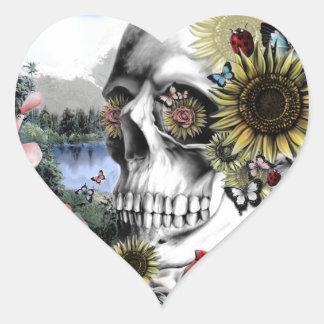 Reflexión, cráneo del paisaje