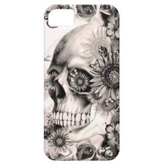 Reflexión, cráneo floral del paisaje funda para iPhone SE/5/5s
