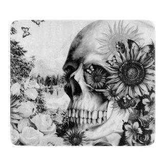 Reflexión. Cráneo floral del paisaje Tabla De Cortar
