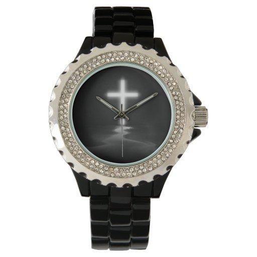 Reflexión cruzada cristiana relojes de mano
