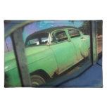 Reflexión cubana del coche manteles individuales
