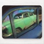 Reflexión cubana del coche tapetes de raton