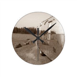 Reflexión de aluminio retra del vintage del reloj