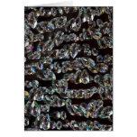 Reflexión de cristal de los cristales tarjetón