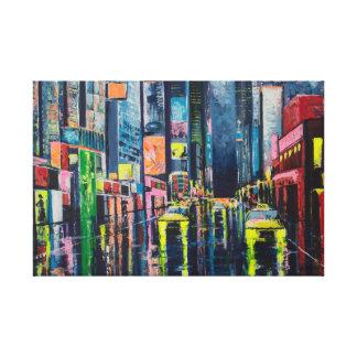 Reflexión de la ciudad impresion de lienzo