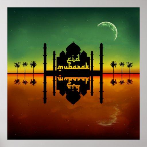 Reflexión de la noche de Eid Mubarak - poster