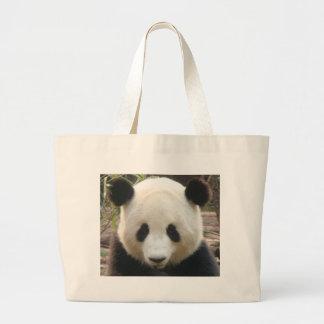 Reflexión de la panda bolsa tela grande