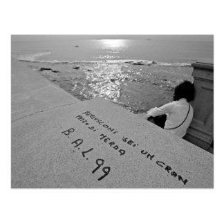 Reflexión de la playa tarjeta postal