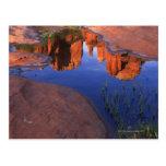 Reflexión de la roca de la catedral en la roca postales