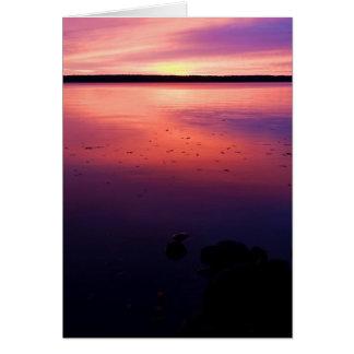 Reflexión de la salida del sol de Gogebic del lago Tarjeta De Felicitación