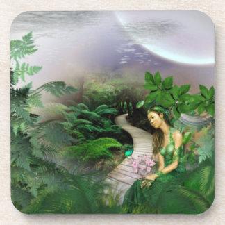 Reflexión de la selva posavasos de bebida