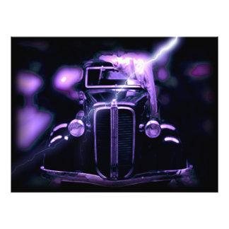 Reflexión de los coches clásicos cobrables fotografías