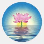Reflexión de Lotus Pegatina Redonda