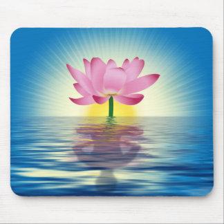 Reflexión de Lotus Tapete De Ratón