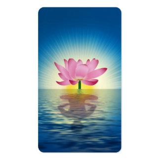 Reflexión de Lotus Tarjetas De Visita