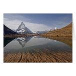 Reflexión de Matterhorn en el riff… Tarjeta De Felicitación