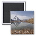 Reflexión de Matterhorn Imán De Frigorífico