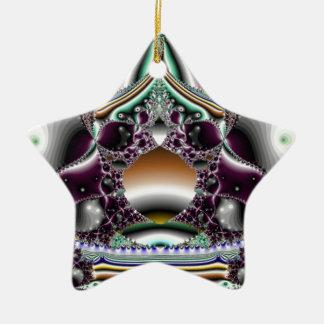 Reflexión de plata adorno navideño de cerámica en forma de estrella