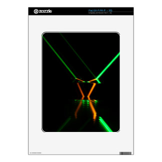 reflexión de rayo láser verde calcomanía para iPad