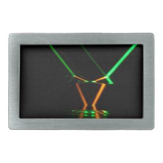 reflexión de rayo láser verde hebilla de cinturon rectangular