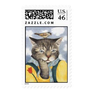 Reflexión de sellos del gato