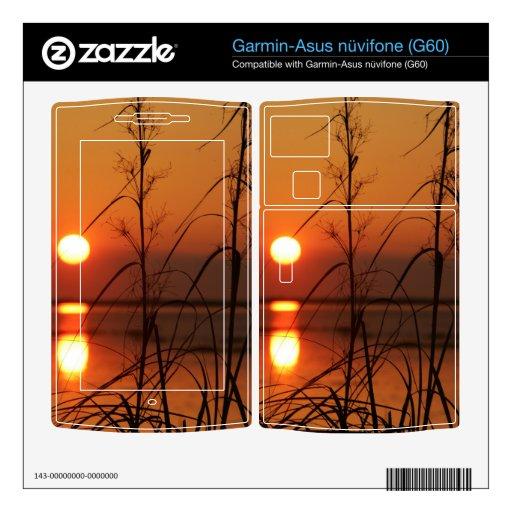 Reflexión de Sun de la tarde Garmin Asus Nuvifone Skins