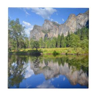 Reflexión de Yosemite Azulejo Cuadrado Pequeño