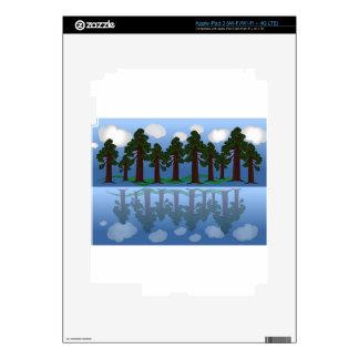 reflexión del árbol iPad 3 pegatinas skins