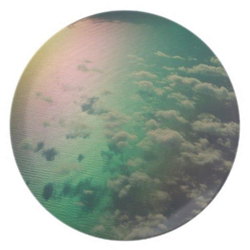 Reflexión del arco iris platos