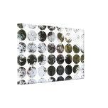 Reflexión del bosque de los lunares del invierno impresión en lona estirada