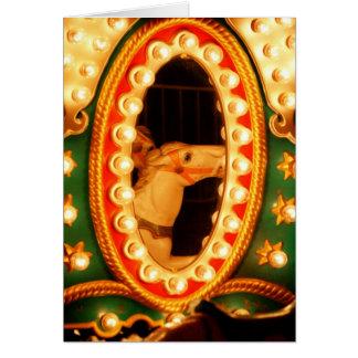 Reflexión del caballo tarjeta de felicitación