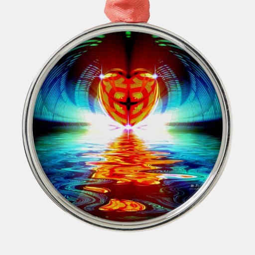 Reflexión del corazón adornos
