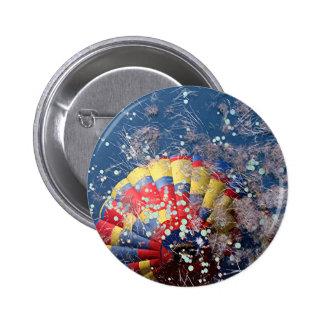 Reflexión del globo 7 del aire caliente en pantano pin redondo de 2 pulgadas