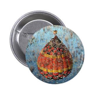 Reflexión del globo 8 del aire caliente en pantano pin redondo de 2 pulgadas