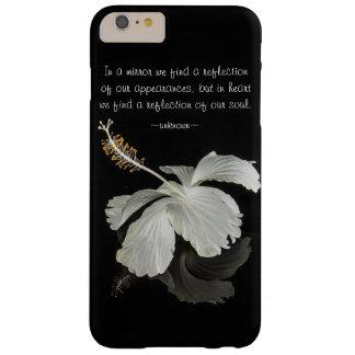 Reflexión del hibisco con el caso más del iPhone 6 Funda De iPhone 6 Plus Barely There